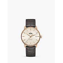 Buy Rado R22861115 Unisex Coupole Classic Date Automatic Leather Strap Watch, Dark Brown/Gold Online at johnlewis.com