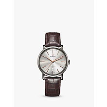 Buy Rado R14074106 Unisex Diamaster Date Automatic Leather Strap Watch, Dark Brown/Silver Online at johnlewis.com
