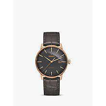 Buy Rado R22877165 Unisex Coupole Classic Date Automatic Leather Strap Watch, Brown Online at johnlewis.com