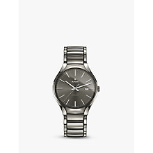 Buy Rado R27057112 Unisex True Date Automatic Ceramic Bracelet Strap Watch, Gunmetal/Grey Online at johnlewis.com