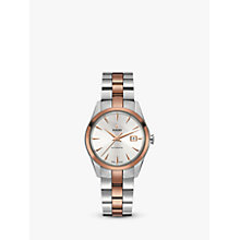 Buy Rado R32087112 Unisex Hyperchrome Automatic Date Bi-Material Bracelet Strap Watch, Silver/Rose Gold Online at johnlewis.com