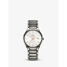 Buy Rado R27057112 Unisex True Automatic Ceramic Bracelet Strap Watch, Silver/White Online at johnlewis.com