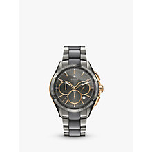 Buy Rado R32118102 Men's Hyperchrome Chronograph Automatic Date Bi-Material Bracelet Strap Watch, Silver/Grey Online at johnlewis.com