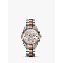 Buy Rado R32039102 Unisex Hyperchrome Chronograph Date Bi-Material Bracelet Strap Watch, Silver/Rose Gold Online at johnlewis.com