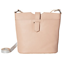 Buy White Stuff Lara Leather Across Body Bag, Blush Online at johnlewis.com