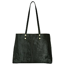 Buy Hobbs Richmond Leather Large Tote Bag, Olive Online at johnlewis.com