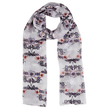 Buy White Stuff Perfect Meadows Silk Scarf, Fresh Grey Online at johnlewis.com