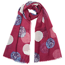Buy White Stuff Spring Spot Scarf, Pink Online at johnlewis.com