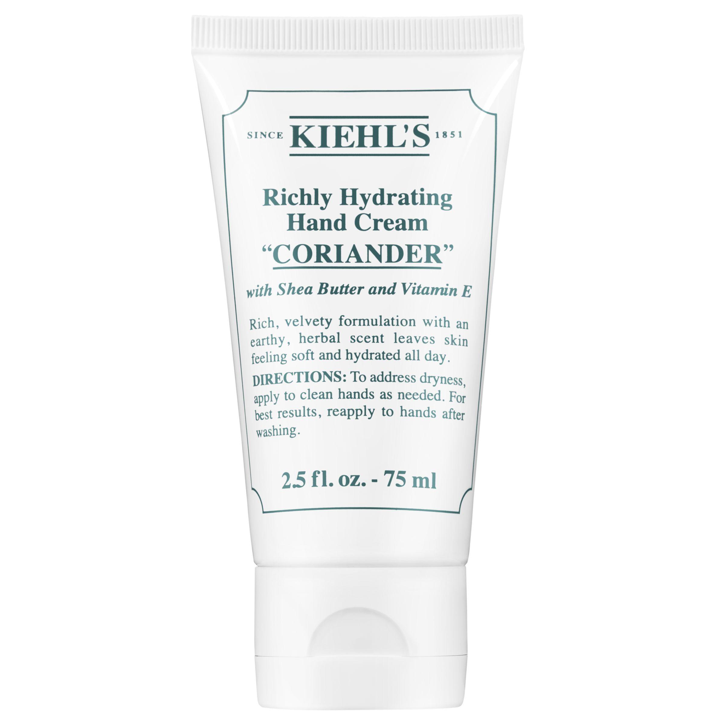 Kiehls Kiehl's Richly Hydrating Hand Cream, Coriander, 75ml