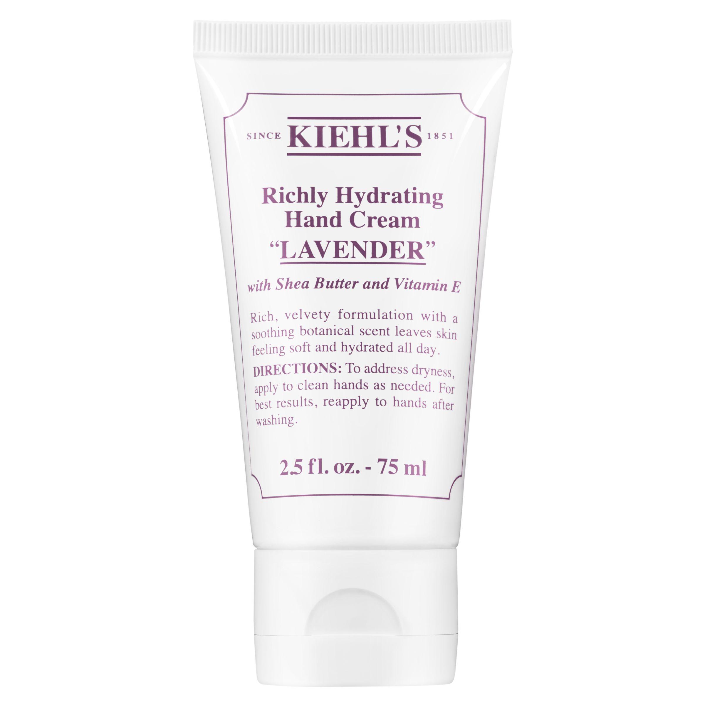 Kiehls Kiehl's Richly Hydrating Hand Cream, Lavender, 75ml