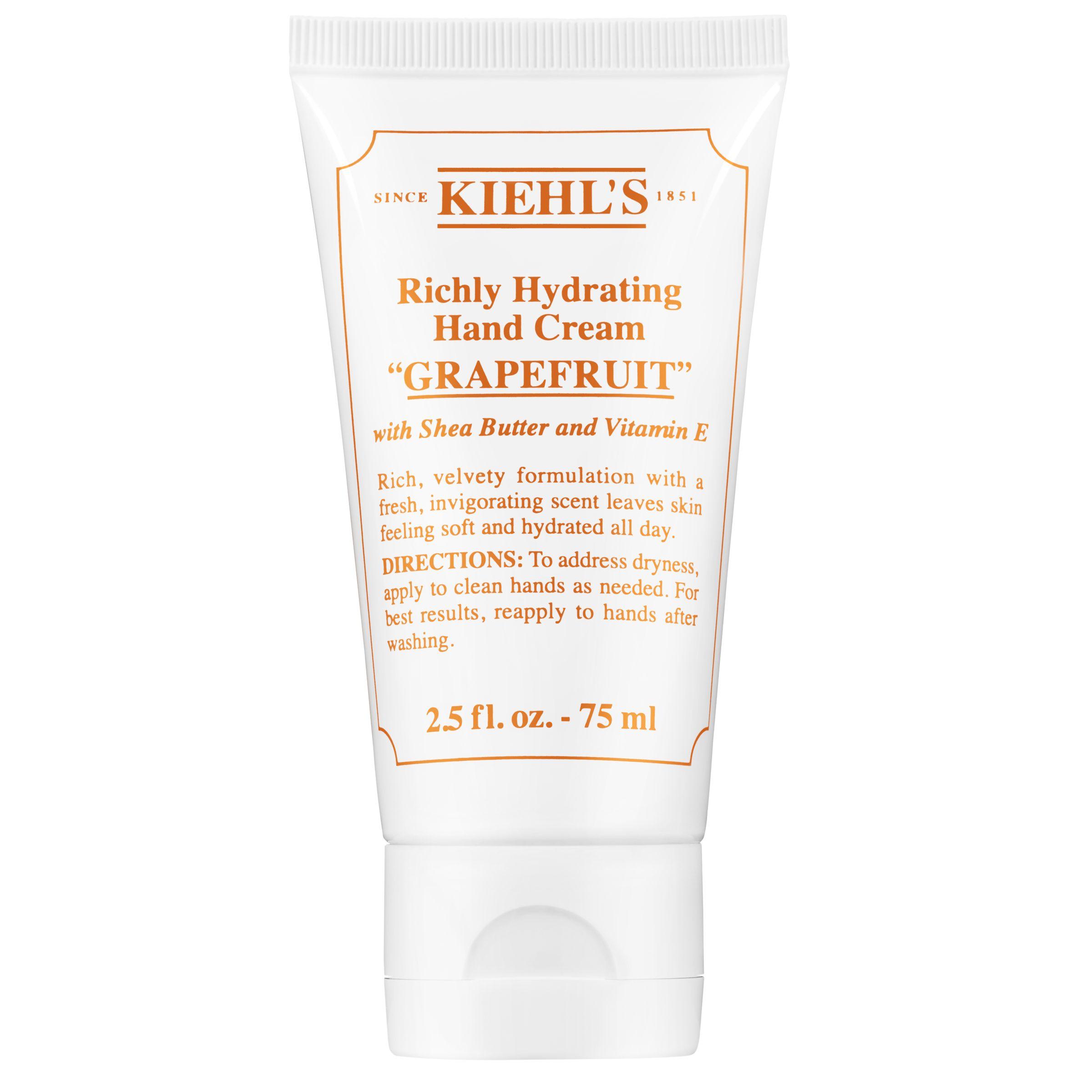 Kiehls Kiehl's Richly Hydrating Hand Cream, Grapefruit , 75ml