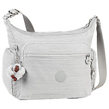 Buy Kipling Gabbie Medium Shoulder Bag, Dazz Grey Online at johnlewis.com
