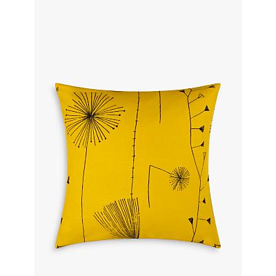 Image of Lucienne Day Dandelion Clocks Cushion, Mustard