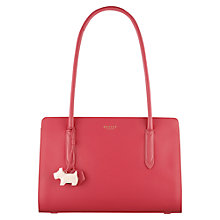Buy Radley Liverpool Street Leather Medium Tote Bag, Pink Online at johnlewis.com