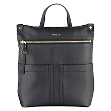 Buy Radley Kensal Leather Backpack, Black Online at johnlewis.com