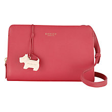 Buy Radley Liverpool Street Leather Medium Across Body Bag, Pink Online at johnlewis.com