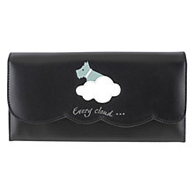 Buy Radley Silver Lining Leather Matinee Purse, Black Online at johnlewis.com