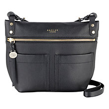 Buy Radley Kensal Leather Across Body Bag, Black Online at johnlewis.com
