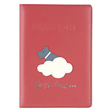 Buy Radley Silver Lining Leather Passport Holder, Pink Online at johnlewis.com