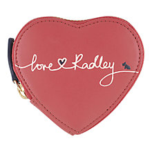 Buy Radley Love Radley Leather Heart Coin Purse, Pink Online at johnlewis.com