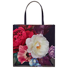 Buy Ted Baker Boucon Icon Large Shopper Bag, Navy Online at johnlewis.com