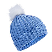 Buy Miss Selfridge Fur Pom Hat, Blue Online at johnlewis.com
