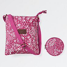 Buy Fat Face Children's Cluster Print Bag and Purse Set, Wild Berry Online at johnlewis.com
