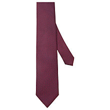 Buy Hackett London Mini Square Silk Tie, Navy/Burgundy Online at johnlewis.com