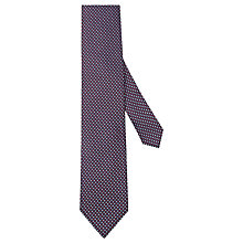 Buy Hackett London Diamond Silk Tie, Navy/Red Online at johnlewis.com