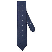 Buy Hackett London Mini Dot Silk Tie, Navy/White Online at johnlewis.com
