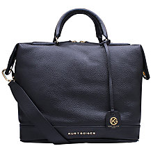 Buy Kurt Geiger Brompton Leather Tote Bag, Black Online at johnlewis.com