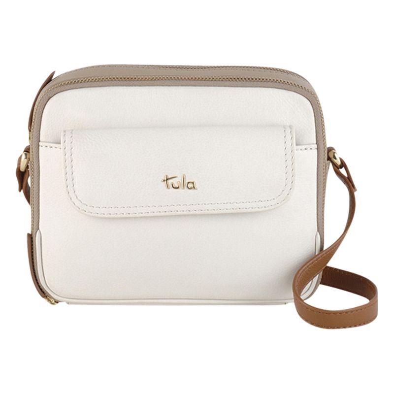 Tula Tula Nappa Originals Leather Small Across Body Bag, Ivory