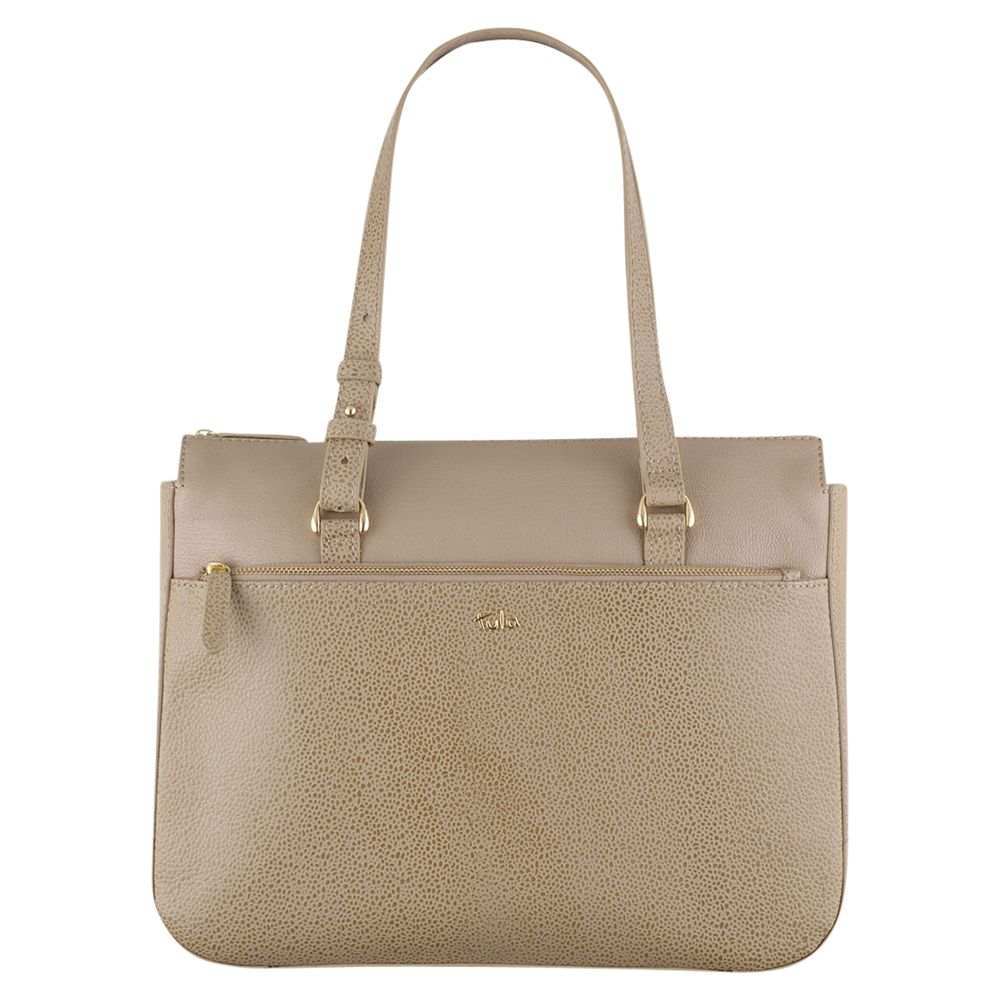 Tula Tula Rye Leather Medium Tote Bag, Beige