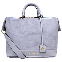 Buy Kurt Geiger Brompton Suede Tote Bag, Croc Grey Online at johnlewis.com