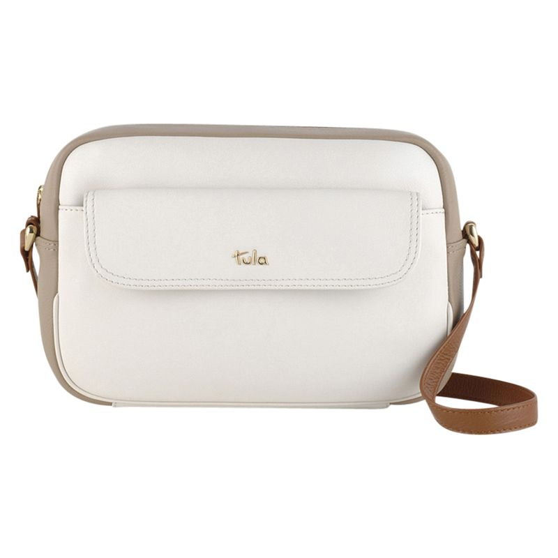 Tula Tula Nappa Originals Leather Medium Across Body Bag, Ivory