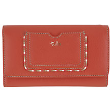 Buy Tula Mallory Leather Large Flapover Matinee Purse, Red Online at johnlewis.com