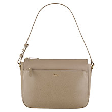 Buy Tula Rye Leather Shoulder Bag, Beige Online at johnlewis.com
