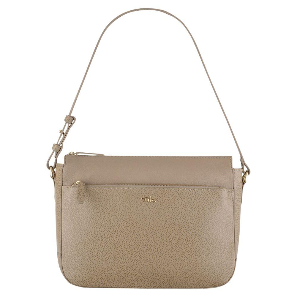 Tula Tula Rye Leather Shoulder Bag, Beige