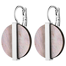 Buy Dyrberg/Kern Mother of Pearl Disc Drop Hook Earrings Online at johnlewis.com