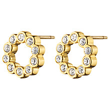 Buy Dyrberg/Kern Textured Crystal Round Stud Earrings Online at johnlewis.com
