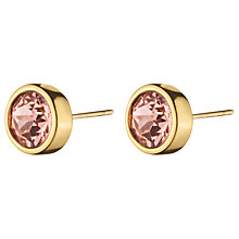 Buy Dyrberg/Kern Solitaire Swarovski Crystal Round Stud Earrings Online at johnlewis.com