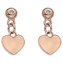 Buy Hot Diamonds Drop Heart Earrings Online at johnlewis.com