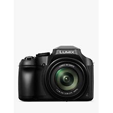 "Buy Panasonic Lumix DC-FZ82 Bridge Camera, 4K UHD, 18.1MP, 60x Optical Zoom,  Wi-Fi, Live Viewfinder, 3"" LCD Touch Screen Online at johnlewis.com"