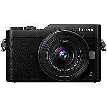 "Buy Panasonic Lumix DC-GX800 Compact System Camera with 12-32mm Interchangeable Lens, 4K Ultra HD, 16MP, 4x Digital Zoom, Wi-Fi, 3"" Tiltable LCD Touch Screen Online at johnlewis.com"