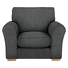 Buy John Lewis Leon Armchair, Dark Leg, Elena Charcoal Online at johnlewis.com