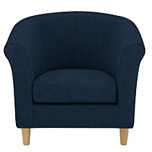 Buy John Lewis The Basics Juliet Armchair, Light Leg, Blue Online at johnlewis.com