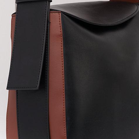 buy french connection olivia half moon bag black dark tan. Black Bedroom Furniture Sets. Home Design Ideas