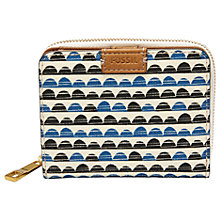 Buy Fossil Emma Mini RFID Purse, Blue Print Online at johnlewis.com