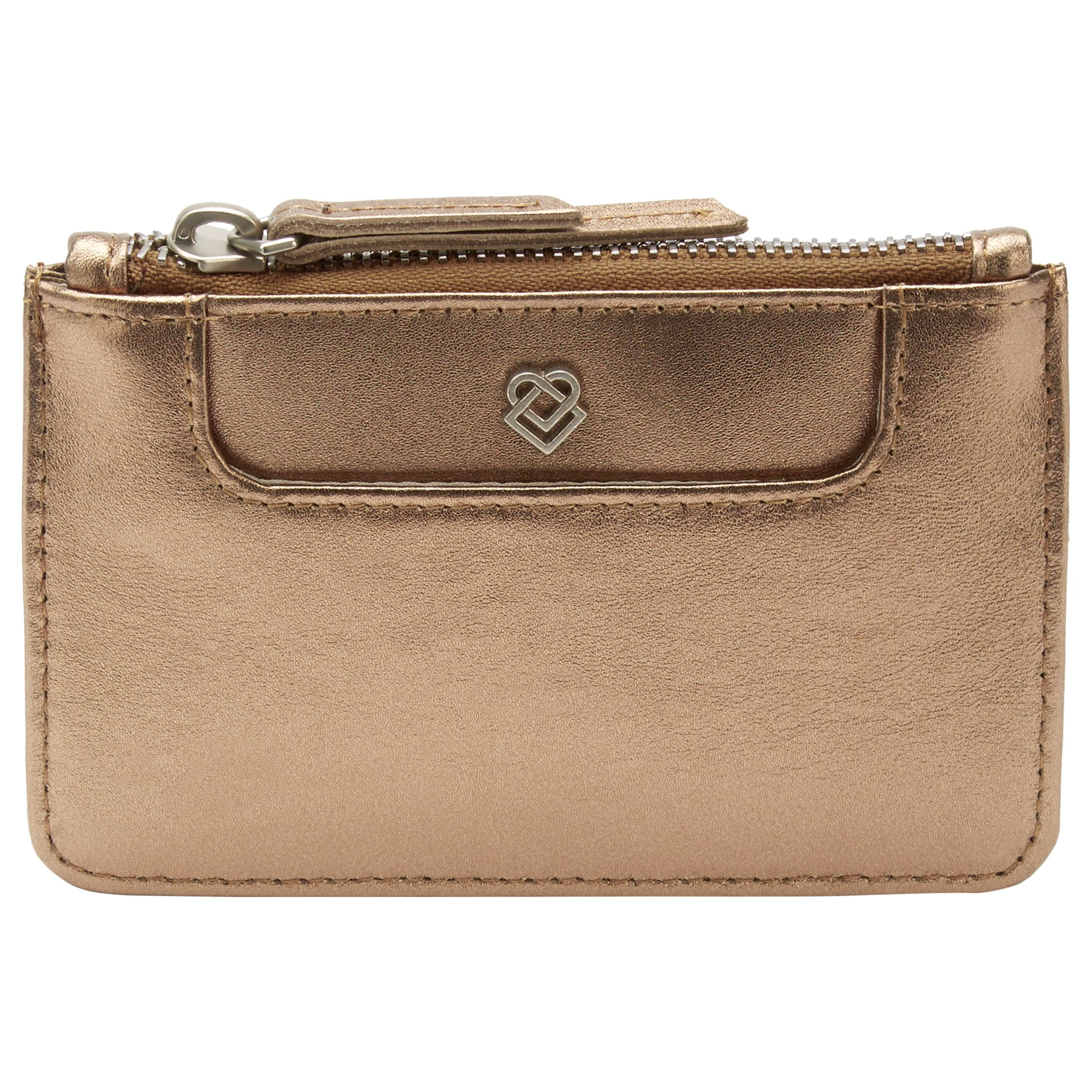 Liebeskind Liebeskind Matti Leather Card Holder, Bronze