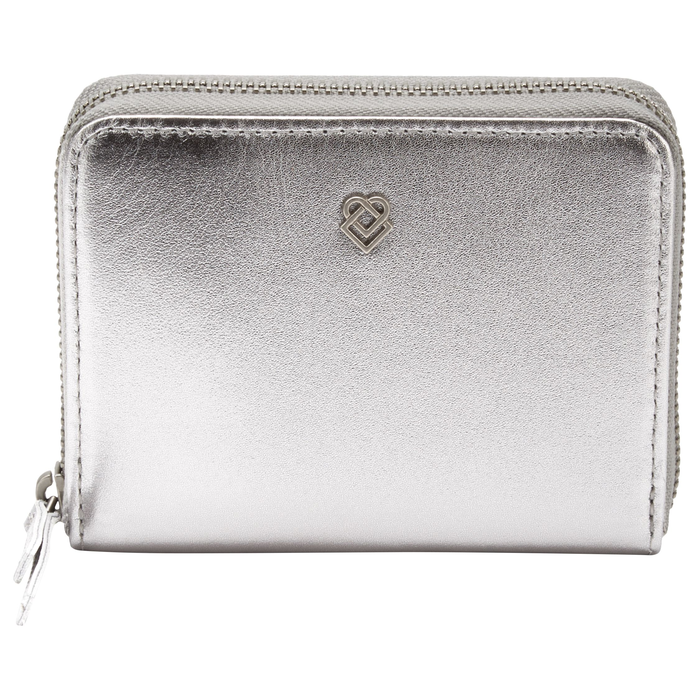 Liebeskind Liebeskind Conny Leather Zip Around Purse, Silver